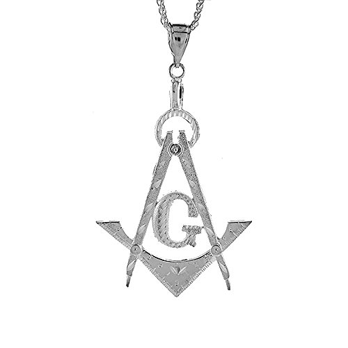 Sterling Silver Masonry Pendant, 3 1/2 inch tall by Sabrina Silver