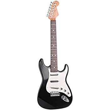 Yamix Kids Guitar, 6 Strings Electric Guitar for Kids Musical Instruments Toy Guitar (Black
