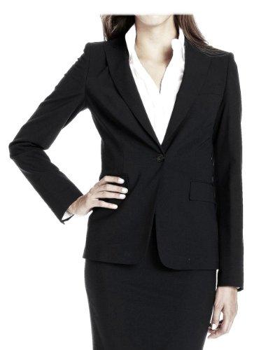 Hugo Boss Navy Wool Business Blazer Juicy Jacket Size 6 (Suit Boss Hugo Women For)