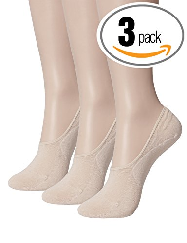 OSABASA Women's 3 Pack Thin Casual No Show Socks Non Slip Flat Boat Line BEIGE L (SET3KWMS0379)