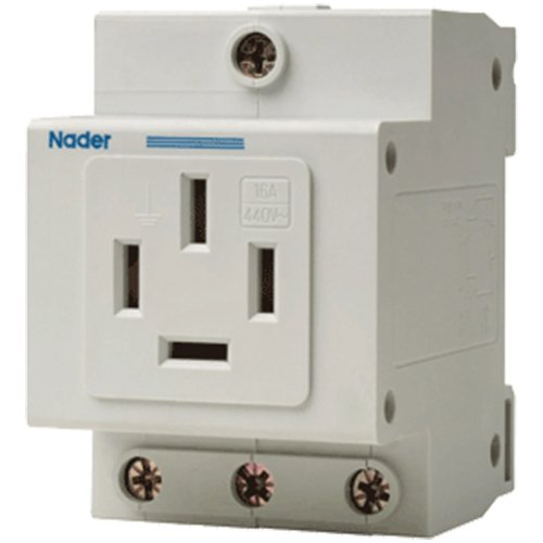 ASI NDA1-16-46 Din Rail Mounted Single Phase AC Outlet Receptacle for Plugs