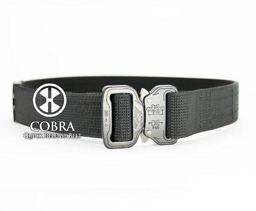 Active Handgun Trainers (A.H.T.) COBRA Quick Release Belt 1.5 wide in Black - 32-34