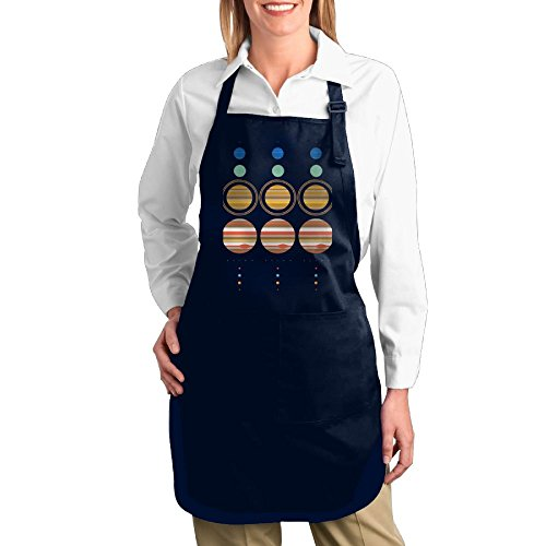 QQWDLQ Artist Canvas Apron with Pockets for Unisex Minimal Solar System Multipurpose Adjustable Utility Or Work Apron by QQWDLQ