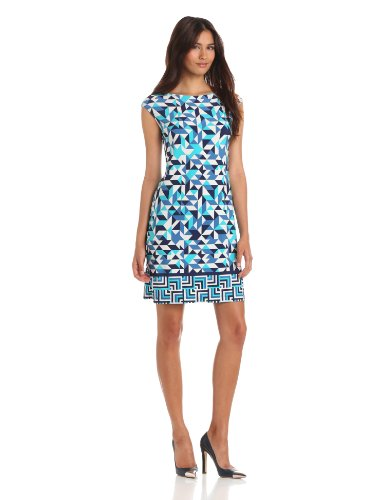 Donna Morgan Women's Cap Sleeve Sheath Dress
