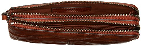 Veronica Double Pouch Wallet Wallet, COGNAC, One Size