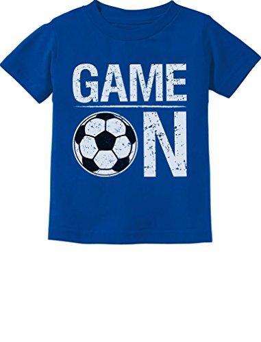 (Tstars - Game On! Gift for Soccer Lover/Player Toddler Kids T-Shirt 4T)