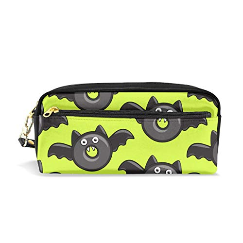 (Pencil Case Bat Vampire Halloween Donuts Gift Students Canvas Pen Bag Pouch Stationary Case Makeup Cosmetic)