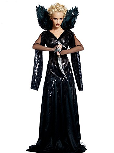 Snow White and The Huntsman Deluxe Queen Ravenna Costume, Black, Small