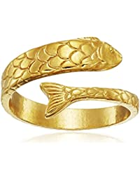 Ring Wrap, Fish, Stackable Ring, Size 5-7