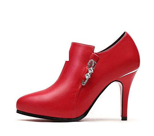 Frau Bai Schuhe,Chunky Heels High Heels,Freizeitschuhe-B Fußlänge=22.3CM(8.8Inch)