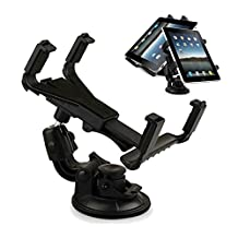 Tsmine Universal Tablet Windshield Dashboard Car Mount Holder (Black) for Samsung Galaxy Tab 4 10.1T530 and All Tablets Between 7 to 10.1 Inch