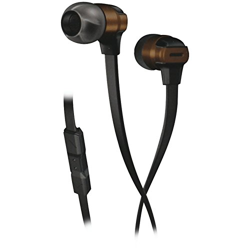 Munitio SV Mobile Performance Earphones with 3 Button Mic Control, Bronze