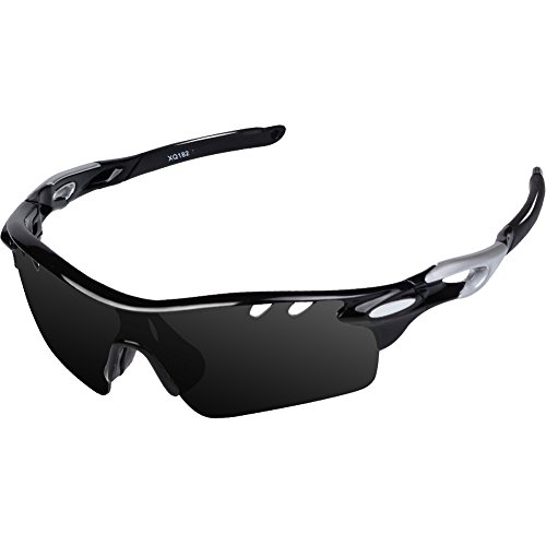 Ewin 스포츠 선글라스 편광 렌즈 UV400 차단 렌즈 3 매 경량 남여 자외선 차단 등산 골프 낚시 야구 달리기 렌즈 교환 가능한 편광 선글라스 세트