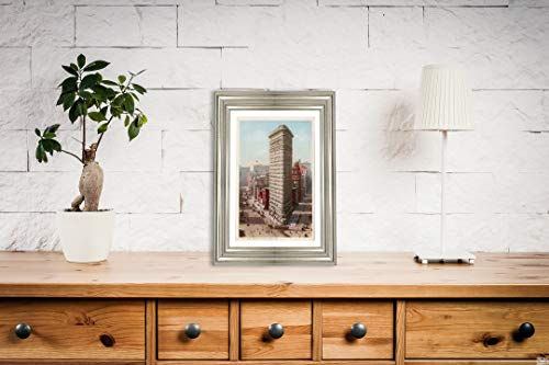 (Flatiron Building, New York, N.Y, 1908 Postcard Vintage Antique Fine Art Reproduction Photo |Size: 8x12|Ready to Frame)
