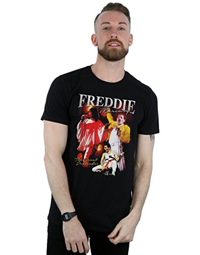 Absolute Cult Queen Men's Freddie Mercury Homage T-Shirt Black X-Large from Absolute Cult