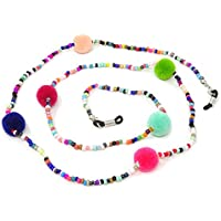 Honbay 2PCS Colorful Beaded Eyeglass Chain Sunglass Holder Glasses Strap Lanyards for Women and Girls