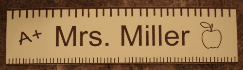 Teacher Office Desk Name Plate or Door Sign - Laser Engraved Signage Material - Great School Teacher Appreciation Gift! CUSTOMIZE