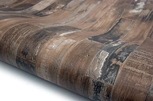 Wood Panel Interior Film Vinyl Self Adhesive Peel-Stick Removable (HBS466) ()