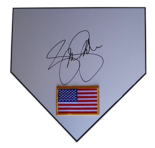 USA Softball Gold Medalist Jennie Finch Autographed Hand Signed United States Flag Logo Home Plate with Proof...