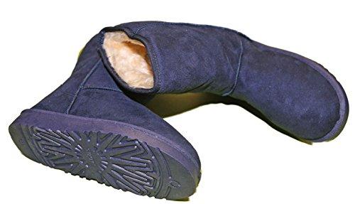 Stiefel Gefüttert Kunst Daim Sohle Rutschfest Mode Pierre-cedric Blau - Marineblau