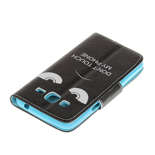 Ecoway Para Samsung Galaxy J3 Funda, Serie pintada Caja del teléfono de moda (Mariposa) PU Leather Cubierta , Función de Soporte Billetera con Tapa para Tarjetas Soporte para Teléfono Compatible Samsu ojos negros