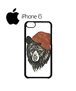 Bear with Beanie Funky Swag Mobile Phone Case Back Cover for iPhone 6 Black