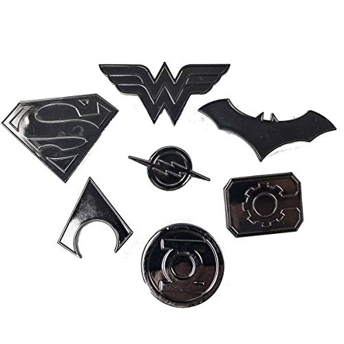 Justice League Super Heros Logo pin Set | Superman, Wonder Woman, Batman, Aquaman, The Flash, Cyborg and Green Lantern | Lightweight, Durable & Exclusive Gift Item (Pin Superhero)