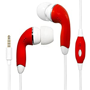 Red Color 3.5mm Audio Earphone Headphones Headset Earbuds With Microphone Hands Free For Apple iPhone 5c Light Low-cost Lite