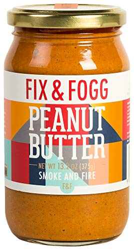 Gourmet Spicy Peanut Butter. Handmade in New Zealand. All Natural and Non-GMO from Fix & Fogg with Organic Chilies. Vegan, Keto Friendly. Superior Tasting Spicy PB - Smoke and Fire (13.2 oz)