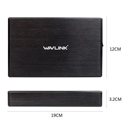 Wavlink 3.5'' Hard Drive Enclosure,USB 3.0 to SATAⅠ/Ⅱ/Ⅲ HDD SSD External Disk HDD Enclosure Case Aluminum with Bracket [Supports UASP & 10TB] by WAVLINK (Image #5)
