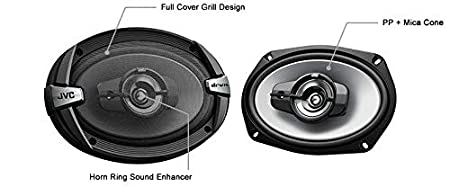 JVC CS DR693 6x9 Oval Car Speaker (Black)