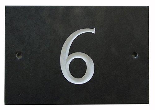 Black Slate House Number 1-99 (Number 6)
