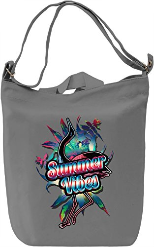 Summer Vibes Borsa Giornaliera Canvas Canvas Day Bag| 100% Premium Cotton Canvas| DTG Printing|