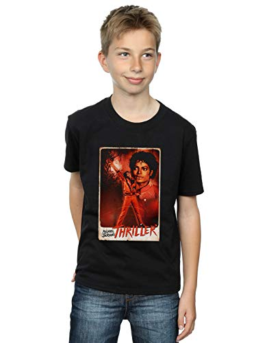 Michael Jackson Boys Thriller Stance T-Shirt Black 7-8 Years