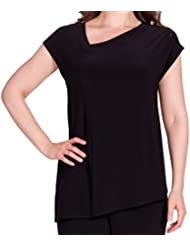 Sympli Womens Slant Top with Cap Sleeves