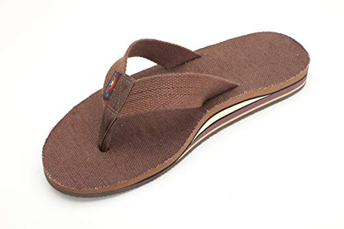 e0ceac8c3cd0 Rainbow Sandals Men s Double Layer Arch Hemp Brown