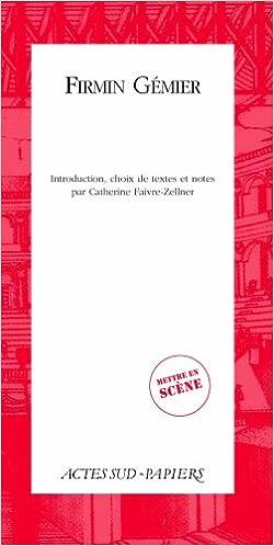 En ligne Firmin Gémier pdf ebook