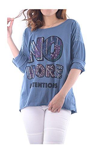 Abbino Ig009 Varios Mujeres Camisetas Transici Chicas Langarm Italia Hecho Tops en colores wwrTxp7