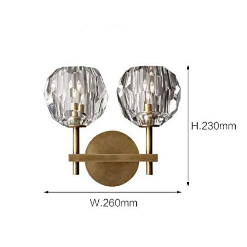 (Chandeliers Modern Contemporary Lamp Luxury Crystal Led Wall Lamp Light Plating Metal Body Wall Lamp Sconces Villa Living Room Study Bedroom Bathroom Decoration Lamp Pattern Room Wall Lantern , Doubl )
