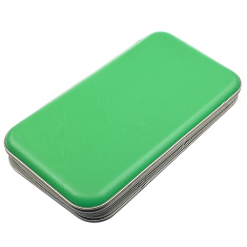Scratch Cd - Jili Online New Plastic 80 disc DVD CD Storage Case Holder DJ Storage Cover Box Case Disc Organizer Wallet Bag - Green