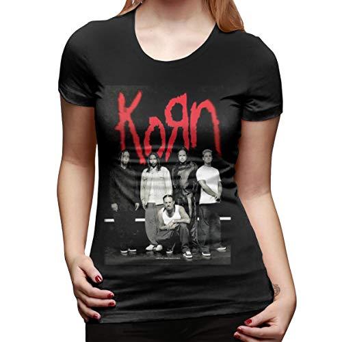 - ZestyChef Womens Korn Logo Fashion Crew Neck Short Sleeves T Shirt Black
