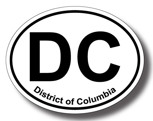 Humorous Bumper Stickers - Washington DC Oval; Oval Shaped Bumper Sticker