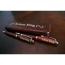 Personalized Pen and Pencil Set with Case with Gold Color Fill