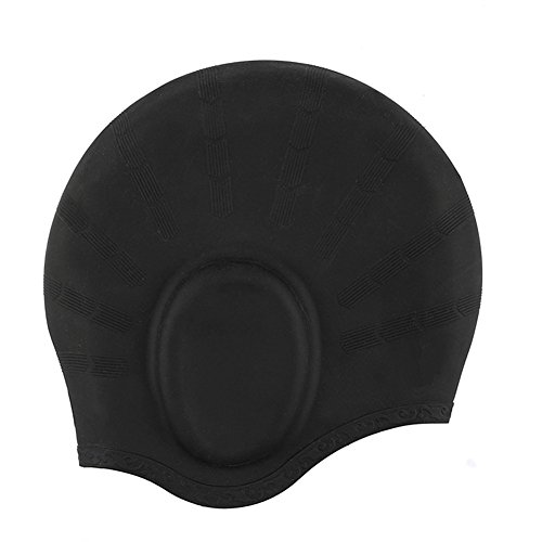 Bonnet de natation, YOBOKO Silicone Imperméable Anti-bruit Flexible Bonnet de bain pour Adultes Hommes Femmes Indoor Ocean Outdoor Swimming Cap