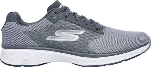 Skechers Walking Mens Gray up Go Sport Shoes Walk Lace fnYfO8Xrx