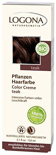 Logona Herbal Hair Color Cream, Teak, 5.01 Ounce