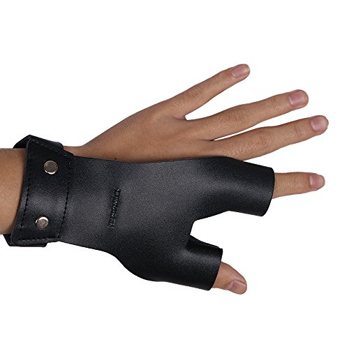TOPARCHERY Archery Hand Guard Protector Shooting Glove Black for Left Hand (Best Archery Shooting Glove)