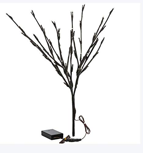 Bloomwin 3PACK Lighted Branch Twig Lights 30in 77cm Battery Powered Lit Tree Twig 20LED Warm White Brown Wrapped Fake Branches for Home Bouquet Vase Decor ()