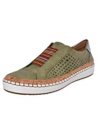 Women's Flats Shoes Casual Loafer Hollow-Out Round Toe Slip On Lazy Sneakers