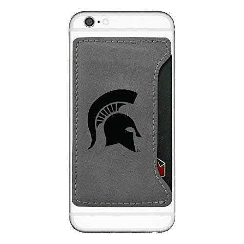 (Michigan State University-Cell Phone Card Holder-Grey)